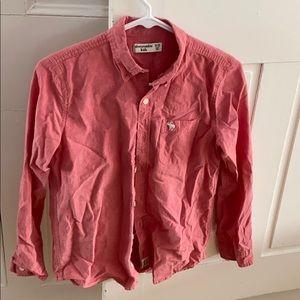 Abercrombie kids 11/12 salmon button up shirt